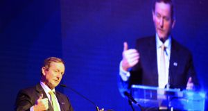 Enda Kenny told Bloomberg that every political issue contains opportunities.  Photograph: Eric Luke