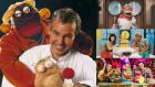 Going, going, gone?: Ray D'Arcy with Zig and Zag and, from top, Brain Freeze, Bosco and Twigín