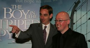 "'The Boy in the Striped Pyjamas' has sold about seven million copies. With royalties at roughly €1 a book, says John Boyne, right, with Ryan Tubridy, ""you can figure it out from there"".  Photograph: Cyril Byrne"