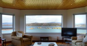 The view from the livingroom of Cruit Island House which is for sale through Savills at €580,000
