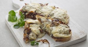 Gary O'Hanlon's blue cheese and Lyonnaise onion tartine