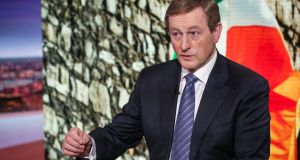 Enda Kenny during an interview in New York on Friday: he said he would leave the decision on the future of water charges to a special Oireachtas committee. Photograph: Christopher Goodney/Bloomberg