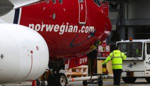 Norwegian Air: Unions claim the airline will use its  Irish Air Operator's Certificate as a flag of convenience to skirt labour laws and employ low-paid crew. Photograph: Chris Ratcliffe/Bloomberg