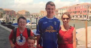 Clodagh Hawe with her sons Liam (14), Niall (11) and Ryan (6). Photograph: Jacqueline Connolly