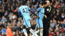 Manchester City's Yaya Toure comes on at the Etihad Stadium on Saturday. Photograph: Laurence Griffiths/Getty Images
