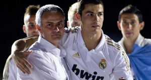 Real Madrid's Portuguese coach José Mourinho  and  Portuguese forward Cristiano Ronaldo: tax affairs under scrutiny.