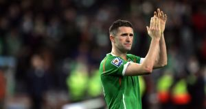 Robbie Keane has won the International Person of the Year award. Photograph: Eric Luke
