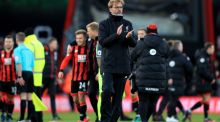 Liverpool manager Jurgen Klopp appears dejected after the final whistle during the Premier League match at the Vitality Stadium, Bournemouth. Photo: Adam Davey/PA Wire