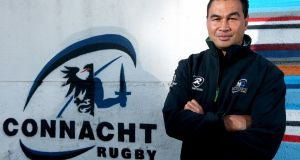 Pat Lam upon being revealed as Connacht's new head coach in 2013. Photograph: James Crombie/Inpho
