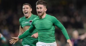 Sean Maguire will be staying with Cork City for another season after a fine 2016 campaign which saw him score the winner in the FAI Cup final. Photograph: Inpho/Tom Beary