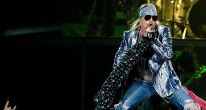 Axl Rose of Guns N' Roses performs at the O2 Arena in London in 2010. the band are to play Slane Castle, Co Meath in 2017. Photograph: Ian West/PA Wire
