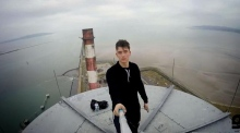 Young man videos himself on top of Poolbeg chimney