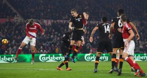 Gaston Ramirez's header gave Middlesbrough a vital win against Hull City. Photograph: Reuters/ Getty