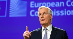 Michel Barnier, the EU's chief Brexit negotiator  speaks during a media conference at EU headquarters in Brussels on Tuesday, December 6th, 2016. Photograph: Thierry Monasse/AP