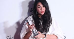 Simone Rocha, winner of the  womenswear designer of the year  at the 2016 Fashion Awards  in London. Photograph: Neil Hall/Reuters