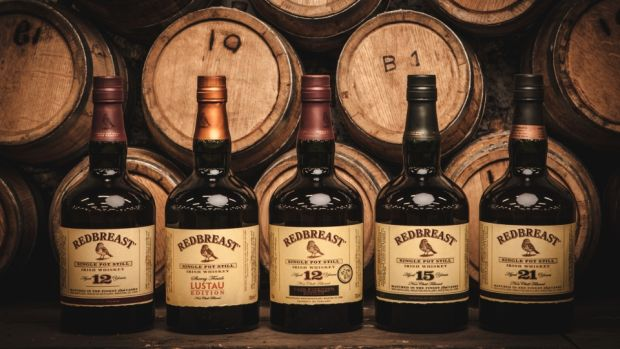 The Redbreast family: Redbreast 12-year-old; Redbreast Lustau; 12-year-old Cask Strength; 15-year-old and 21-year-old