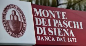 Monte Dei Paschi di Siena bank in Milan. It is reported the Italian bank could be gearing up for a state bailout.