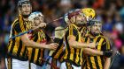 The Kilkenny players celebrate after seeing off Waterford in the All-Ireland hurling semi-final replay. Photograph: Inpho