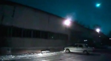 A meteor illuminates Siberia's night sky