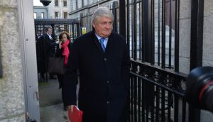 Denis O'Brien leaving the Four Courts last week during his action against  the Clerk of the Dáil and the State over comments made by two TDs in the Dáil. Photograph: Alan Betson/The Irish Times.