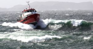 The Inishbofin ferry 'Island Discovery' in heavy seas. Photograph: Marie Coyne