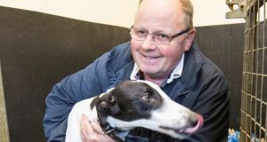 Greyhound trainer Graham Holland at his home in Golden, Co Tipperary after getting Clares Rocket back. Photograph: Liam Burke/Press 22