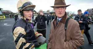 David Mullins with trainer Willie Mullins Photograph: ©INPHO/Morgan Treacy