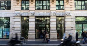 A branch of troubled Banca Monte dei Paschi di Siena in Rome. The inability to resolve the banking crisis in ways that meet the constraints of Italian politics and European rules is now a canker in Italy's politics.