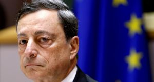 European Central Bank president Mario Draghi: Every arch of the presidential eyebrow will be analysed when talk turns to Italy. Photograph: Yves Herman/Reuters