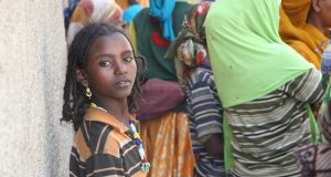 A young Oromo girl, Ethiopia's largest ethnic group who are spread across the country, in the city of Harar, far to Ethiopia's east. Photograph: James Jeffrey