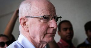 Former OCI president, Patrick Hickey in Rio de Janeiro, Brazil. Photograph: Humberto Ohana/AFP/Getty Images