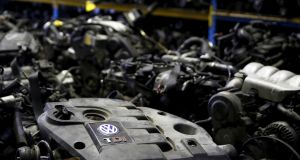 Volkswagen TDI diesel engines  in Jelah, Bosnia and Herzegovina. The EU began legal action against Germany, the UK and five other member states for failing to police emissions test cheating. File photograph: Dado Ruvic/Reuters