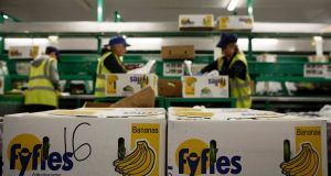 Irish fruit distributor Fyffes is to be acquired by Tokyo-headquartered Sumitomo Corporation for €751 million. Photograph: Simon Dawson/Bloomberg