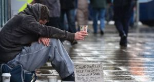 Cork Simon is aiming to provide Christmas dinners to homeless people they encounter. Photograph: Alan Betson/File photo