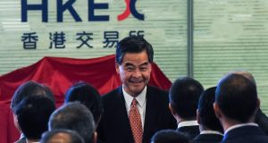 Hong Kong's unpopular leader  Leung Chun-ying said that he would not run again for office. The decision comes as Chinese Communist Party leaders have expressed anger at growing support for parties calling for independence and self-determination in the former British colony. Photograph: Anthony Wallace/AFP