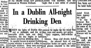 A section of the front page of The Irish Times on October 7th, 1944. Photograph: The Irish Times