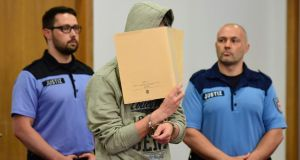 Paedophile trial: Silvio S, who abducted, raped and murdered two boys. Photograph: John MacDougall/AFP