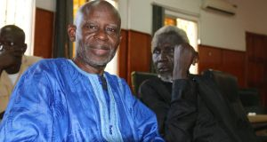 Ousainou Darboe and Famara Kuyateh preparing for freedom  in Banjul. Photograph: Lorraine Mallinder