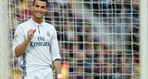 Real Madrid forward Cristiano Ronaldo  will not make any further statement on his tax compliance. Photograph: Getty.