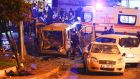 Police arrive at the site of an explosion in central Istanbul. Photograph: Murad Sezer/Reuters