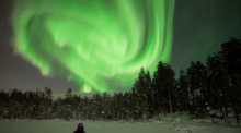 Stunning Northern Lights display over Finland