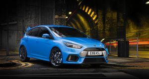 The 2 Ford Focus RS:    loud in every sense and possibly anti-social too