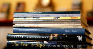 Some books by  John Montague. Photograph: Cyril Byrne