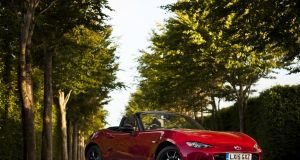 The Mazda MX5 has an engine that is almost perfectly in balance with its chassis. Photograph: Drew Gibson