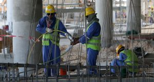 Activity in the construction sector is expected to grow by 9 per cent annually between now and 2020. File photograph: Karim Jaafar/AFP/Getty Images