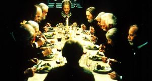 Babette's Feast: a film about the  generosity and redemptive power of a young  woman in a 19th century rural community who   serves a sumptuous feast to the quarrelsome, religiously narrow-minded villagers