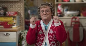 Brendan O'Carroll as Agnes Brown in the Mrs Brown's Boys Christmas Special 2016, which will be broadcast on RTÉ One and BBC One on Christmas Day. Photograph: Graeme Hunter Pictures