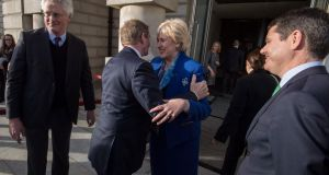 Enda Kenny, Heather Humphreys and Paschal Donohoe at the Creative Ireland launch. Photograph: Brenda Fitzsimons