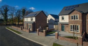Carton Wood, Maynooth. A first time buyer would need a deposit of just €14,750 to buy a three-bed semi-detached house worth €295,000. Someone trading up on the other hand would need to come up with a significantly higher deposit of €59,000.