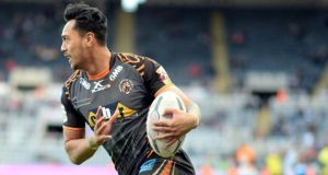 Sale Sharks have defended the signing of cross-code winger Denny Solomona. Photograph: Getty/Nigel Roddis